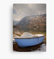 Snowy lake. Canvas Print