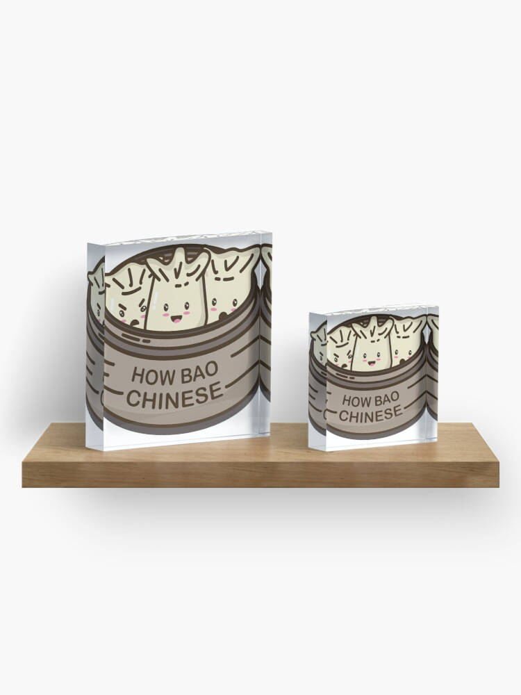 Alternate view of How Bao Chinese? Acrylic Block