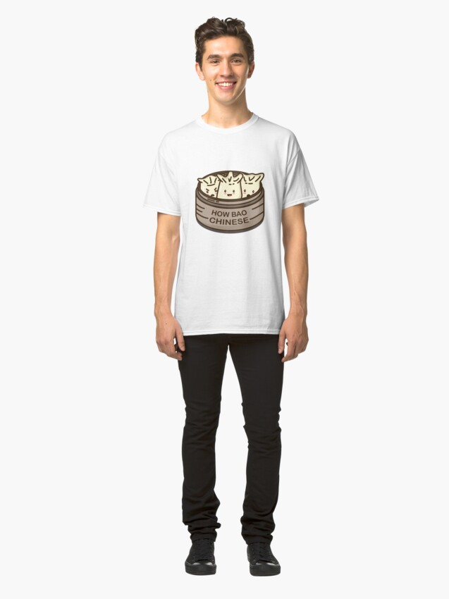 Alternate view of How Bao Chinese? Classic T-Shirt