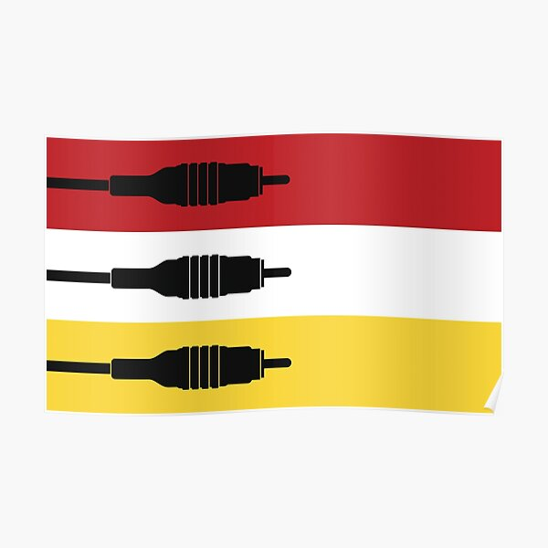Flag of the RCA Connectors - AV Flags Poster