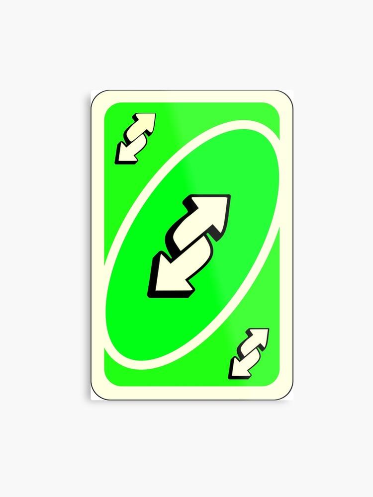 photo regarding Printable Uno Cards identify Neon Inexperienced Uno Opposite Card Metallic Print
