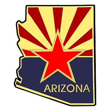 State of Arizona Outline Flag by BankrobberGus