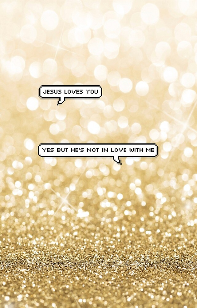 Jesus loves you - gold by mcompton