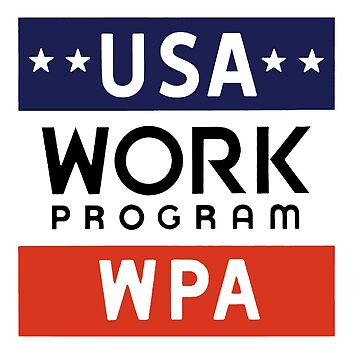Works Progress Administration Put People to Work (WPA) by motorcycles