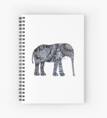 Zentangle Elephant Spiral Notebook