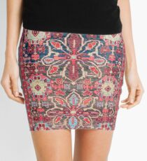 Bijar Kurdish Northwest Persian Rug Mini Skirt