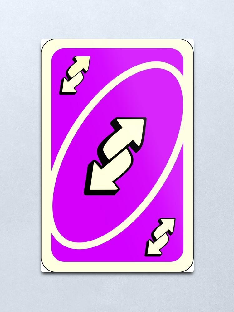 Carte Reverse Uno Purple Néon   Impression métallique