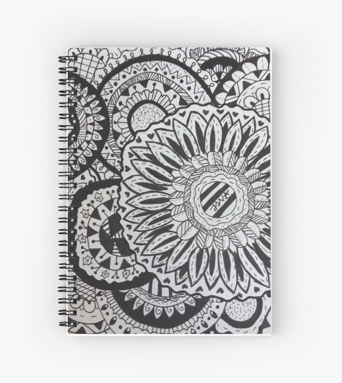 Flower Zentangle by jessidraws