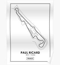 Paul Ricard - Streckenübersicht Frankreich Poster