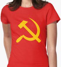 Communism - Soviet Union - Hammer Sickle Star Women's Fitted T-Shirt