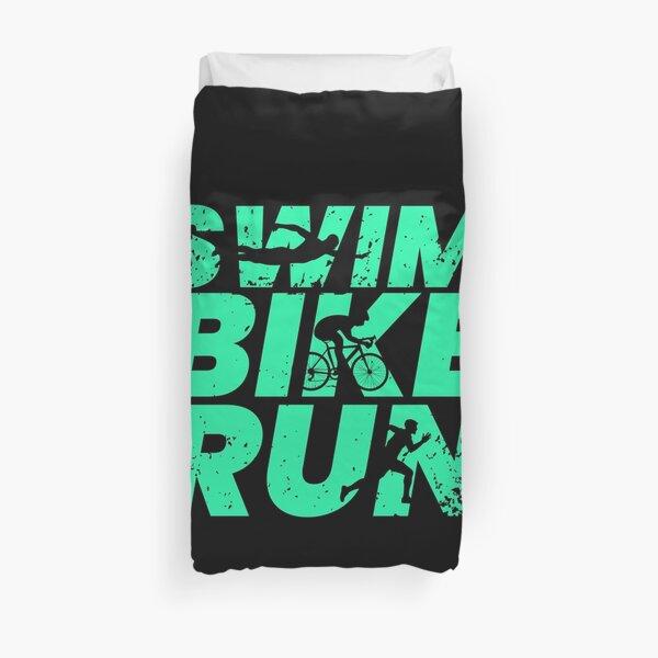 Triathlon triathlete sports gift Duvet Cover