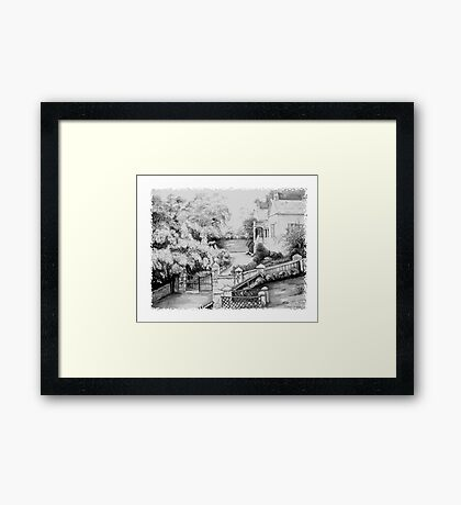 Governors House , Port Arthur Tasmania Framed Print