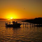Fishing Boat Sunset by D-GaP