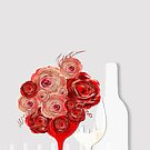 Wine and flowers Red by mjvision Mia Niemi by mjvisiondesign