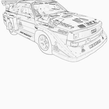 Audi Quatro Rally Car by oliver9523