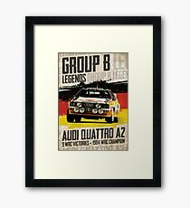 Gruppe B Legenden - Audi Quattro A2 Gerahmtes Wandbild