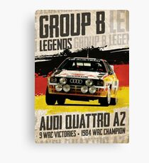 Group B Legends - Audi Quattro A2 Canvas Print