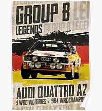 Gruppe B Legenden - Audi Quattro A2 Poster