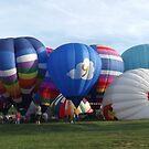 Hot Air Balloons At Turf Valley by Darlene Bayne