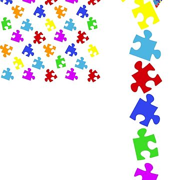 USA Puzzle Flag - Autism Awareness by peaktee
