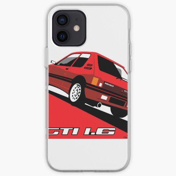 Peugeot 205 GTI 1.6 rouge Coque souple iPhone