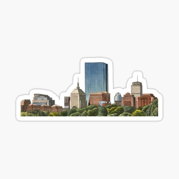 Boston Watercolor Skyline Sticker