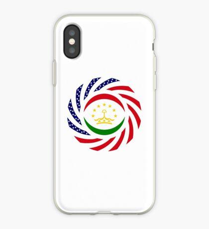 Tajik American Multinational Patriot Flag Series iPhone Case