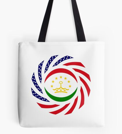 Tajik American Multinational Patriot Flag Series Tote Bag