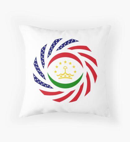 Tajik American Multinational Patriot Flag Series Throw Pillow