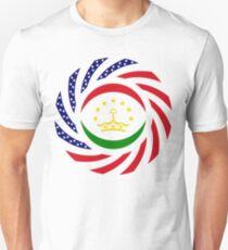 Tajik American Multinational Patriot Flag Series Slim Fit T-Shirt
