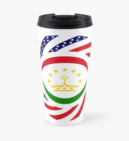 Tajik American Multinational Patriot Flag Series Travel Mug
