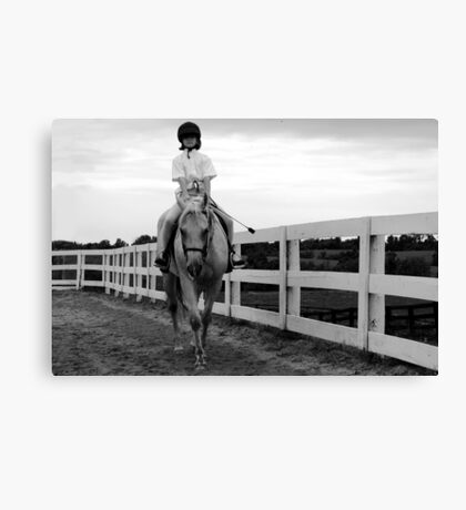 Horse Show - Meadowview Farm in Kentucky Canvas Print