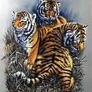 Tiger cubs three. by Robert David Gellion