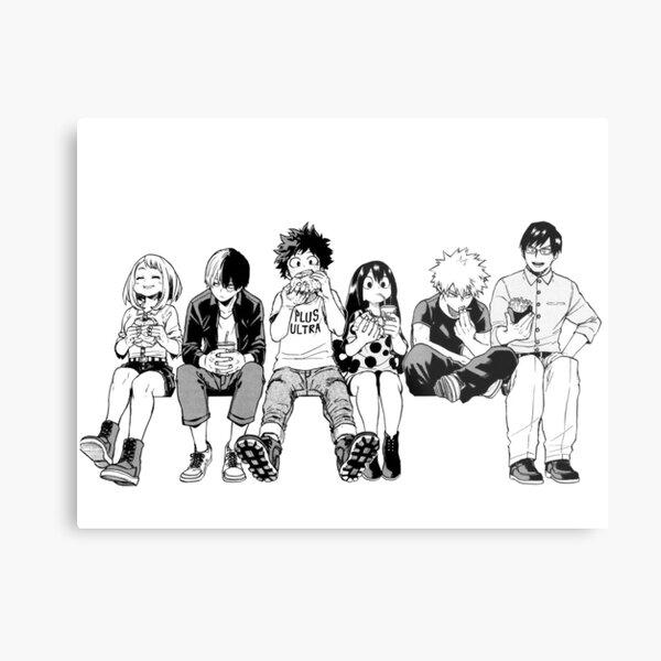 BW Squad Metal Print