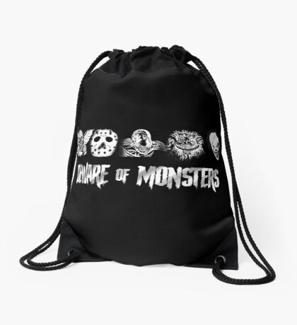 Beware of Monsters Drawstring Bag