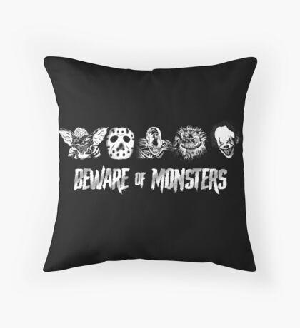 Beware of Monsters Floor Pillow