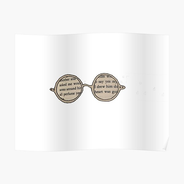 James Joyce Glasses Poster