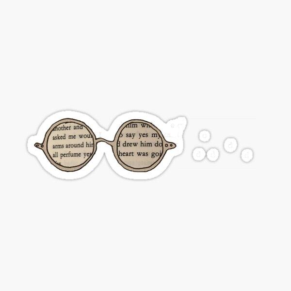 James Joyce Glasses Sticker