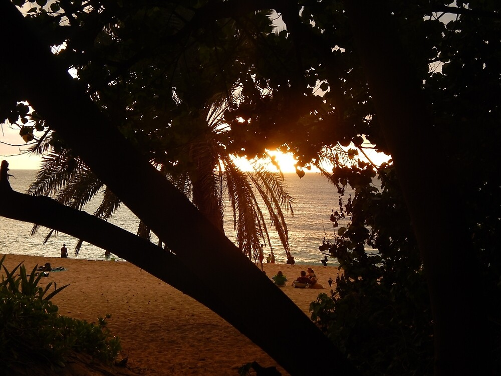 Sunset Beach by Mommabec