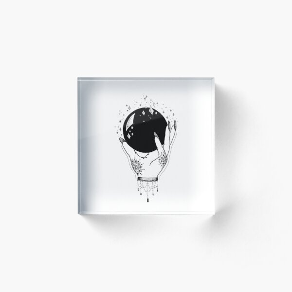 Crystal Ball Acrylic Block