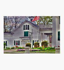New England Schoolhouse Photographic Print