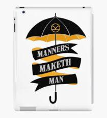 Manners Maketh Man iPad Case/Skin