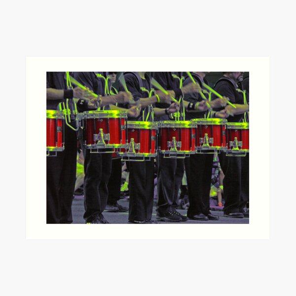Drummers a-drummin' Art Print