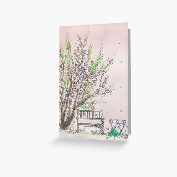 Magnolia Garden Greeting Card