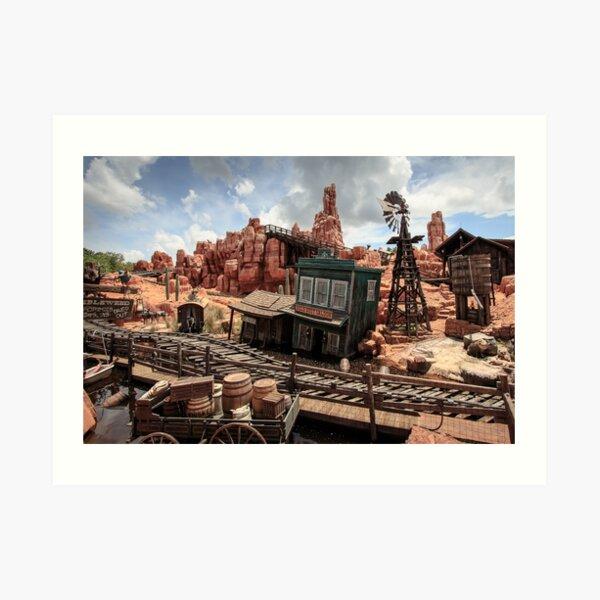 The Wild West Scene Art Print