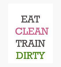 Eat Clean Photographic Print