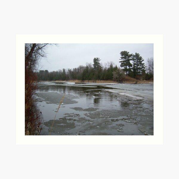 Mississippi river ice flow Art Print