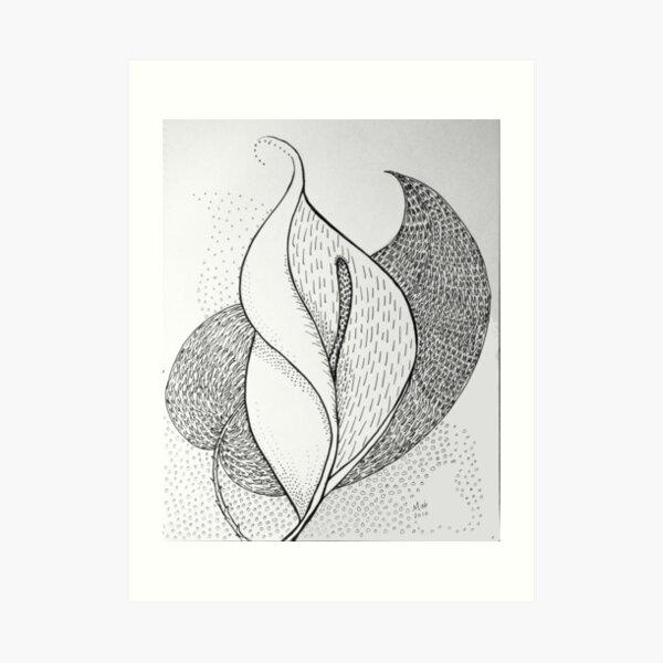 Leaf and Lily Art Print