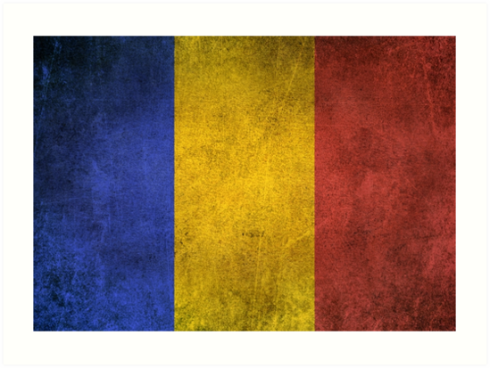 Old and Worn Distressed Vintage Flag of Romania by jeff bartels