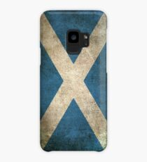 Old and Worn Distressed Vintage Flag of Scotland Case/Skin for Samsung Galaxy